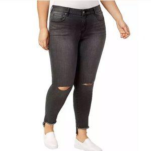 William rast plus size skinny ripped jeans